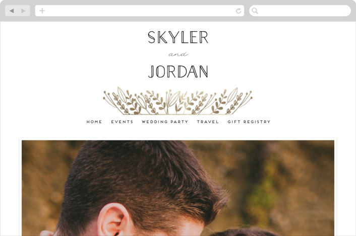 """Gilded Glyph"" - Wedding Websites in Gold by shoshin studio."