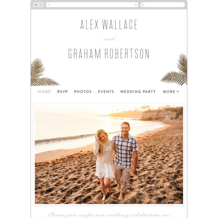 """Gilded Palms"" - Wedding Websites in Cotton by carla san roman."