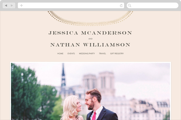 """Gold Portrait"" - Wedding Websites in Cream by Phrosne Ras."