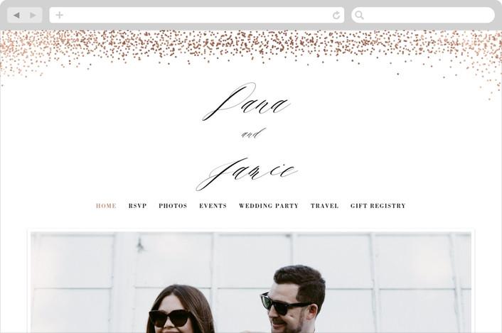 """Shimmer Chic"" - Wedding Websites in Cognac by Melanie Severin."