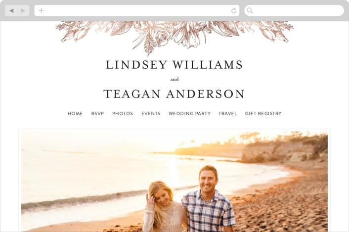 """Sketched Bouquet"" - Wedding Websites in Petal by Phrosne Ras."
