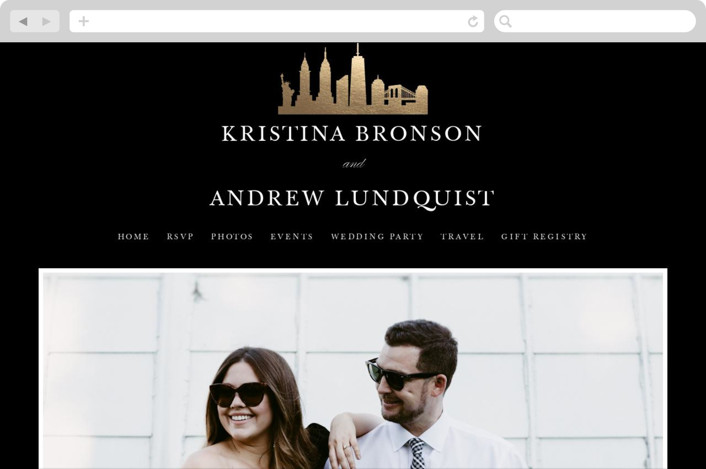"""New York Skyline"" - Wedding Websites in Onyx by WHALEN."