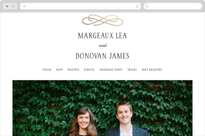 This is a black and white wedding website by Kim Dietrich Elam called Timeless printing on digital paper.