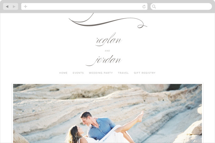 """Fox Trot"" - Bold typographic, Elegant Wedding Websites in Stone by Lori Wemple."