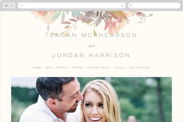 This is a colorful wedding website by Lori Wemple called Garden printing on digital paper.