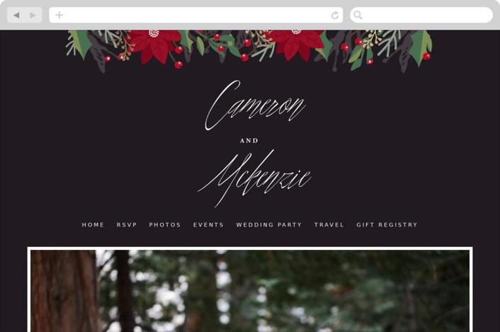 """Poinsettia Garden"" - Floral & Botanical Wedding Websites in Onyx by Oma N. Ramkhelawan."