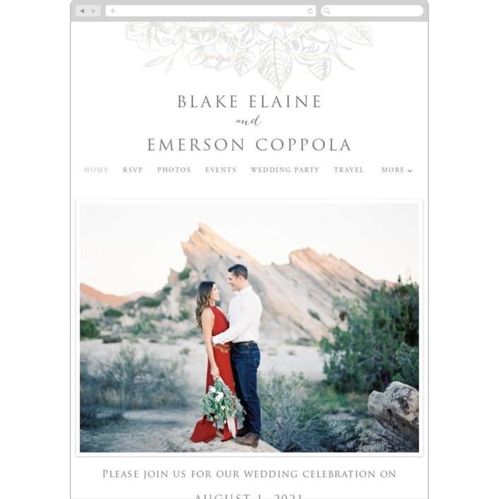 """""""Gilded Wildflowers"""" - Rustic Wedding Websites in Golden by Rochelle Renee."""