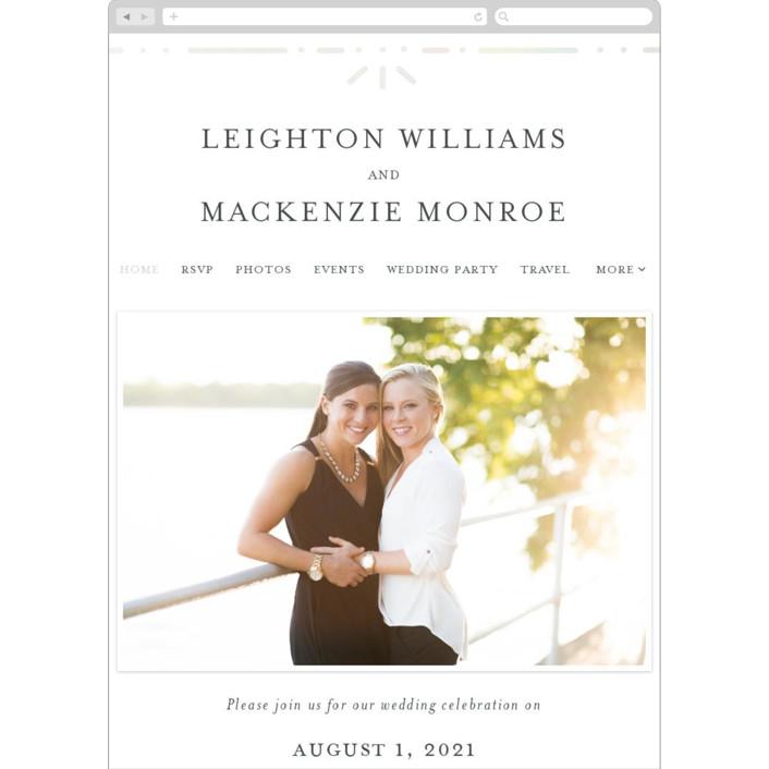 """""""Foil Frame"""" - Vintage Wedding Websites in Cloud by Bethan."""