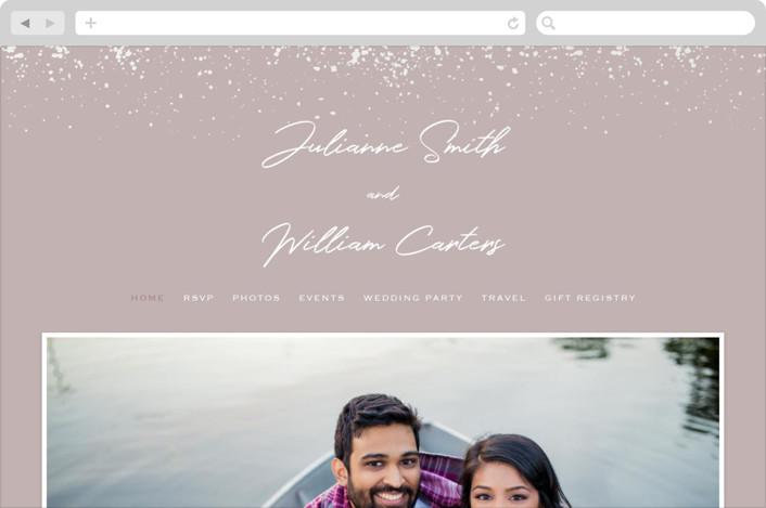 """""""Paint Splash"""" - Modern Wedding Websites in Nude by Juliana Zimmermann."""