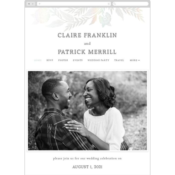 """Block Printed Border"" - Wedding Websites in Cement by Katharine Watson."