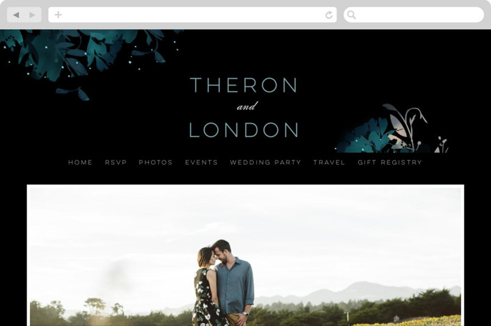 """Midnight Garden"" - Wedding Websites in Midnight by Lori Wemple."