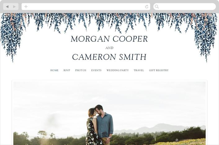 """In Love"" - Wedding Websites in Cobalt by Elly."