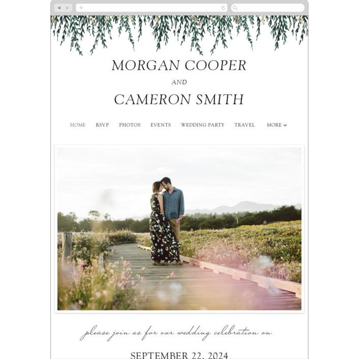 """In Love"" - Wedding Websites in Broccoli by Elly."