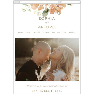 This is a beige wedding website by Leah Bisch called Bloom printing on digital paper in standard.