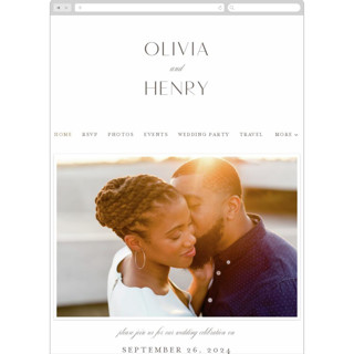 This is a white wedding website by Jen Banks of Ink and Letter called Forever And printing on digital paper in standard.