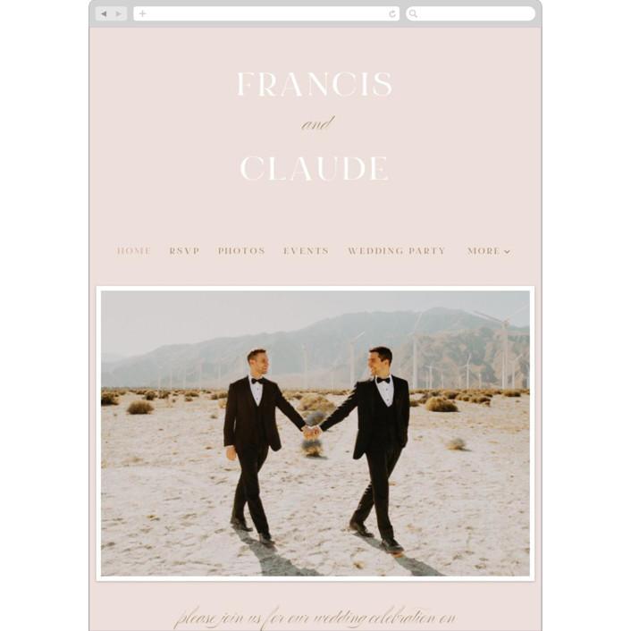 """Lovely Day"" - Wedding Websites in Rose Quartz by Leah Bisch."