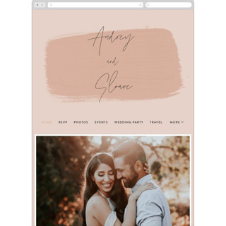 This is a pink wedding website by Nazia Hyder called Script printing on digital paper in standard.