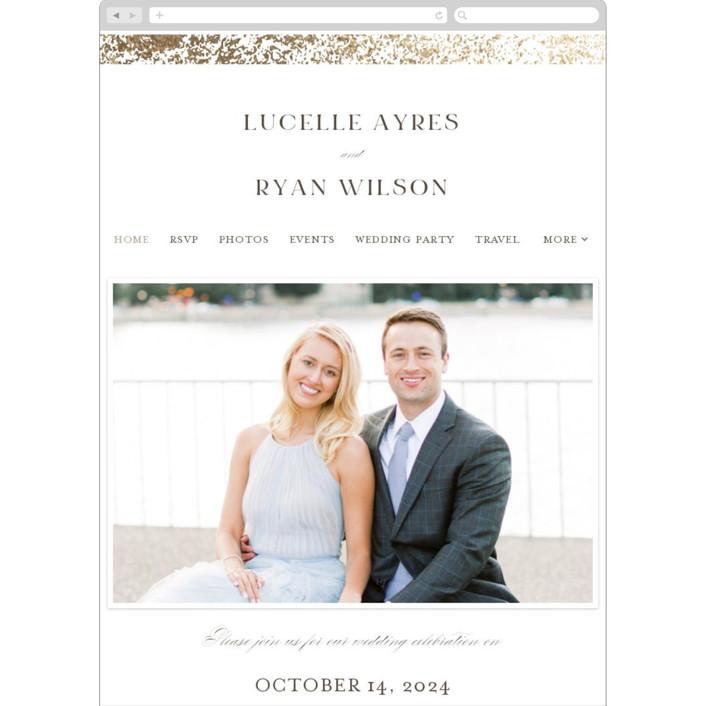 """Inlay"" - Wedding Websites in Sandstone by Pixel and Hank."