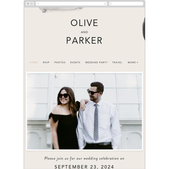 """Midtown"" - Modern Wedding Websites in Stone by Caitlin Considine."