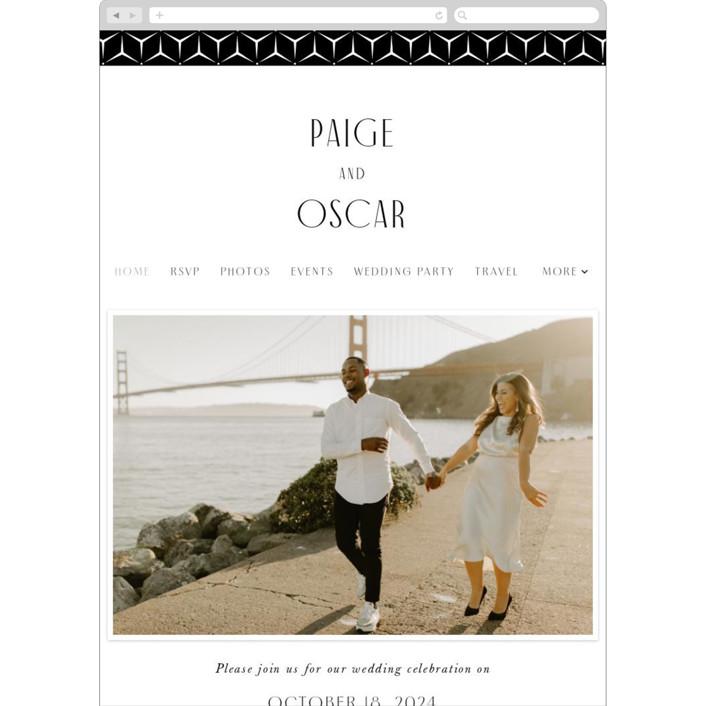 """""""Arcadia"""" - Wedding Websites in Onyx by Jennifer Wick."""