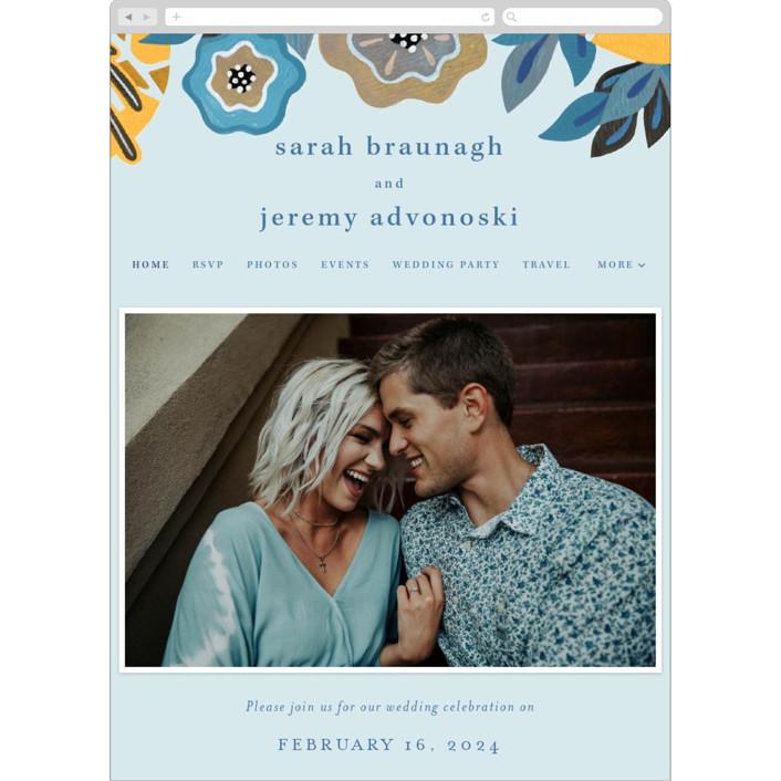 """The Love Birds"" - Wedding Websites in Teapot by Morgan Ramberg."