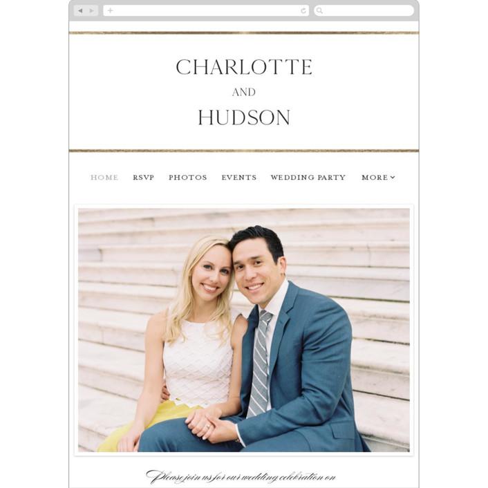 """Heard the news"" - Wedding Websites in Cotton by Stacey Meacham."