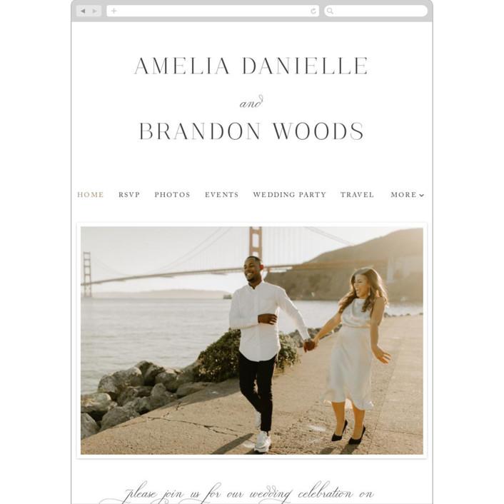"""Elegant Flourish"" - Wedding Websites in Sugar by Jessica Williams."