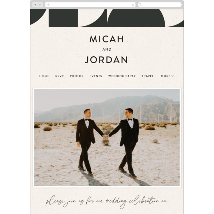 """Kenai"" - Modern Wedding Websites in Shadow by Carly Reed Walker."