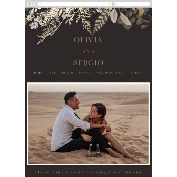 """""""Garden"""" - Wedding Websites in Mahogany by Leah Bisch."""