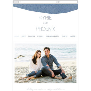 This is a blue wedding website by Olivia Raufman called Alchemy printing on digital paper in standard.