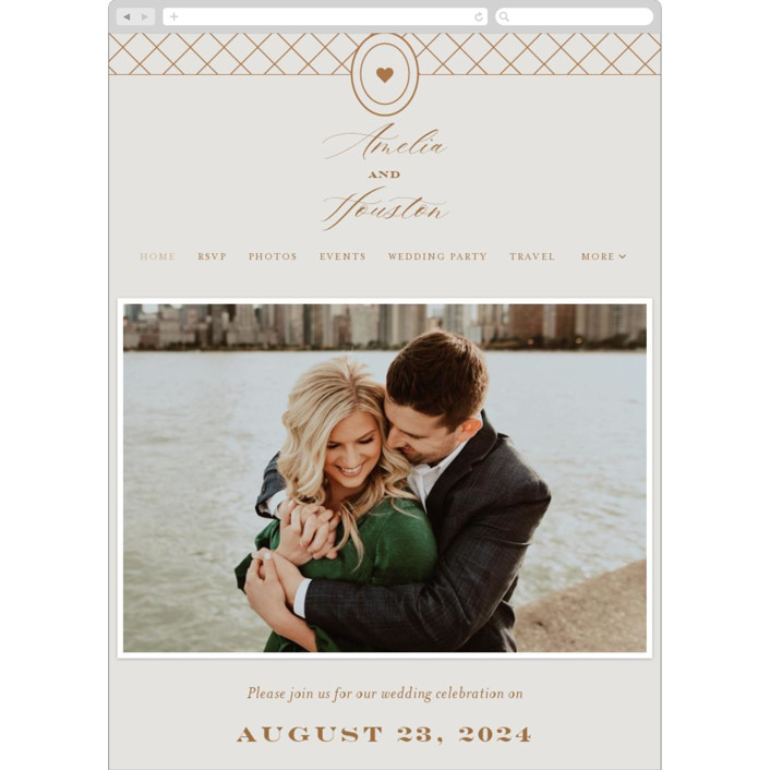 """""""Date Stamp"""" - Wedding Websites in Wool by Jill Means."""