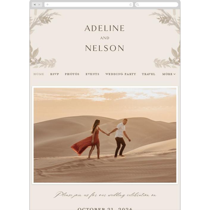 """Preserved Fall Botanicals"" - Bohemian Wedding Websites in Linen by Erin Deegan."