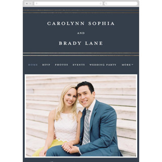 This is a blue wedding website by Stacey Meacham called The Biltmore printing on digital paper in standard.