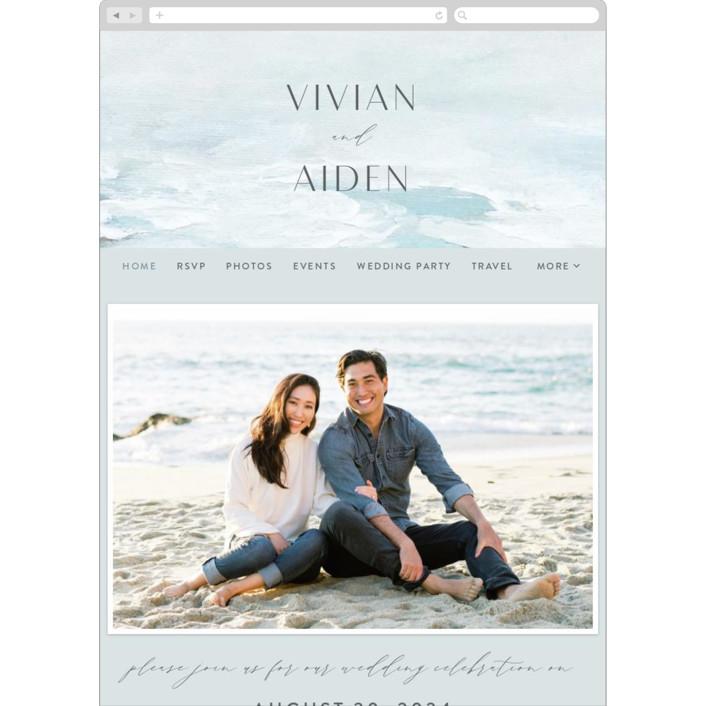 """At Sea"" - Wedding Websites in Sky by Nicoletta Savod."