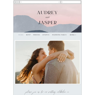 This is a blue wedding website by Pixel and Hank called scene printing on digital paper in standard.