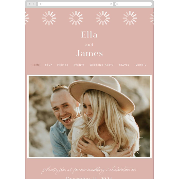 """""""Party Accordingly"""" - Funny Wedding Websites in Blush by Caitlin Considine."""
