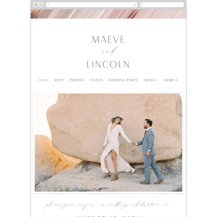 """""""chiffon"""" - Modern Wedding Websites in Desert Rose by Kaydi Bishop."""