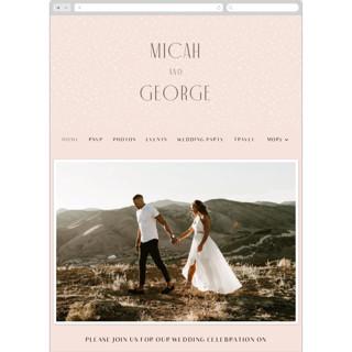 This is a pink wedding website by Lori Wemple called Casablanca printing on digital paper in standard.