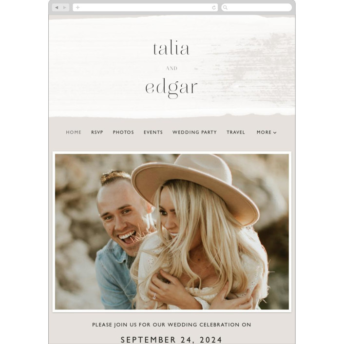 """""""Swoon"""" - Wedding Websites in Cream by Lindsay Stetson Thompson."""