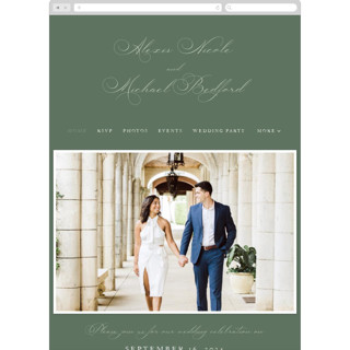 This is a green wedding website by Jennifer Postorino called Initial printing on digital paper in standard.