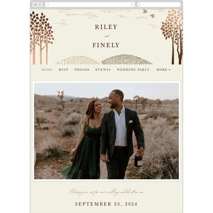 """""""In the country"""" - Rustic Wedding Websites in Chestnut by Paper Sun Studio."""