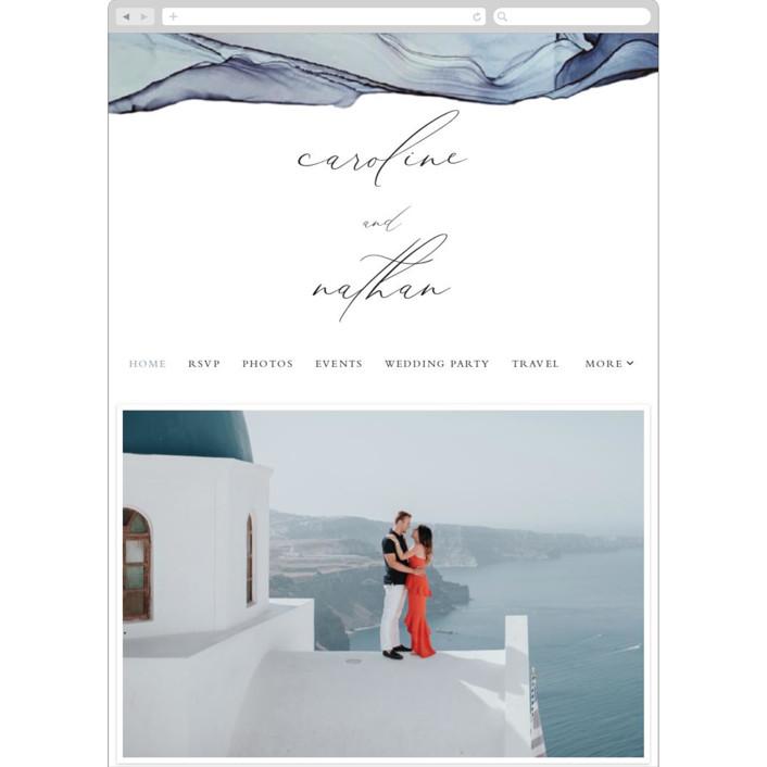 """Slate"" - Wedding Websites in Blue Jasper by Erin Deegan."