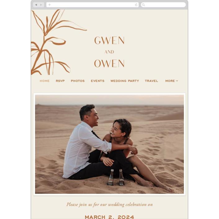 """""""Ovalon"""" - Bohemian, Modern Wedding Websites in Terracotta by Pati Cascino."""