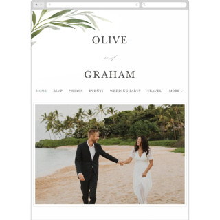 This is a green wedding website by Erin L. Wilson called Orchard printing on digital paper in standard.