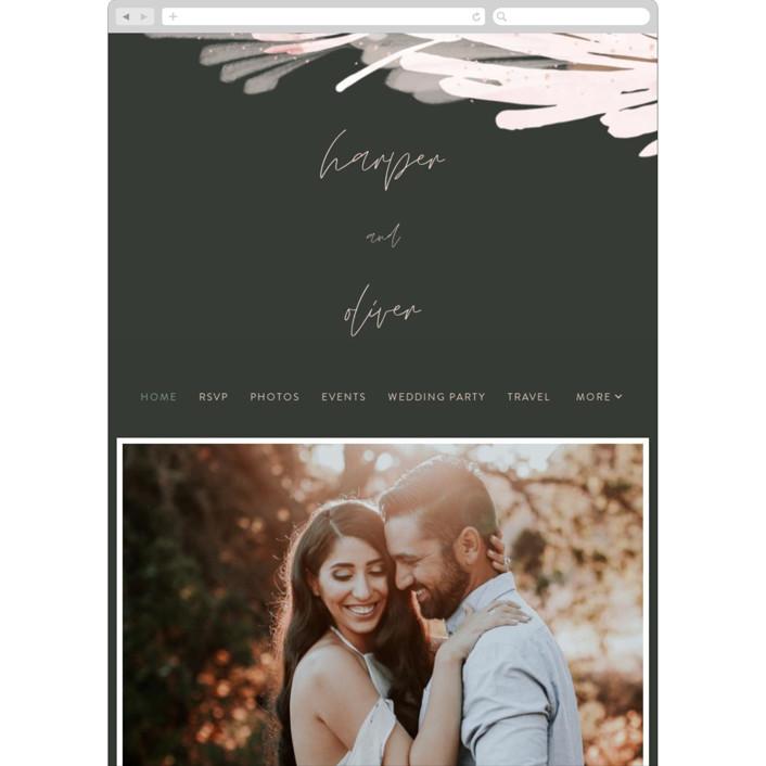 """lush romance"" - Bohemian Wedding Websites in Palm by Robin Ott."