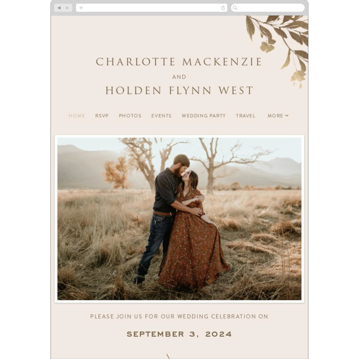 """""""Intentions"""" - Wedding Websites in Soft Cheek by Design Lotus."""