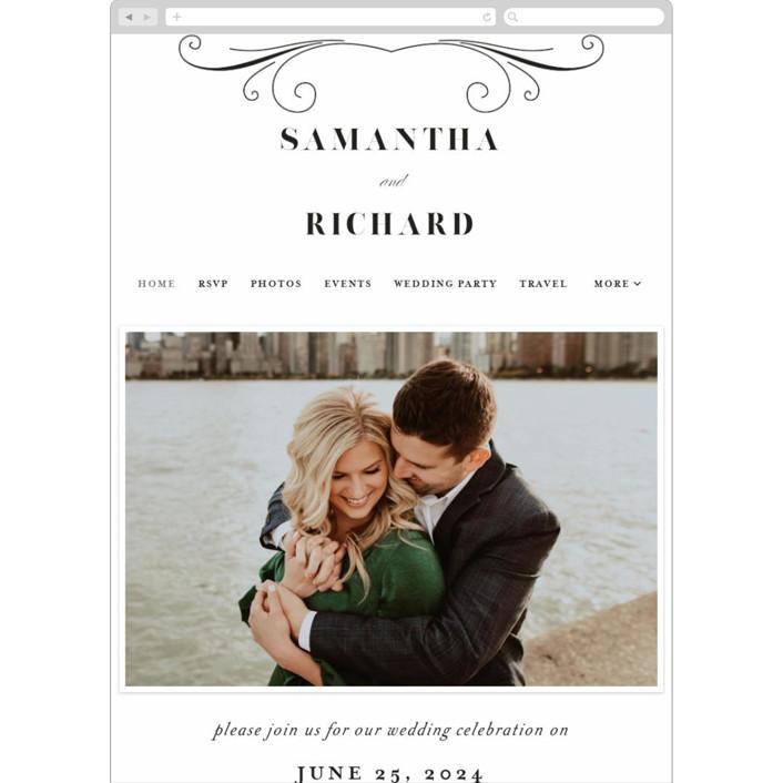 """whimsical ampersand"" - Wedding Websites in Black Tie by Laura Hamm."