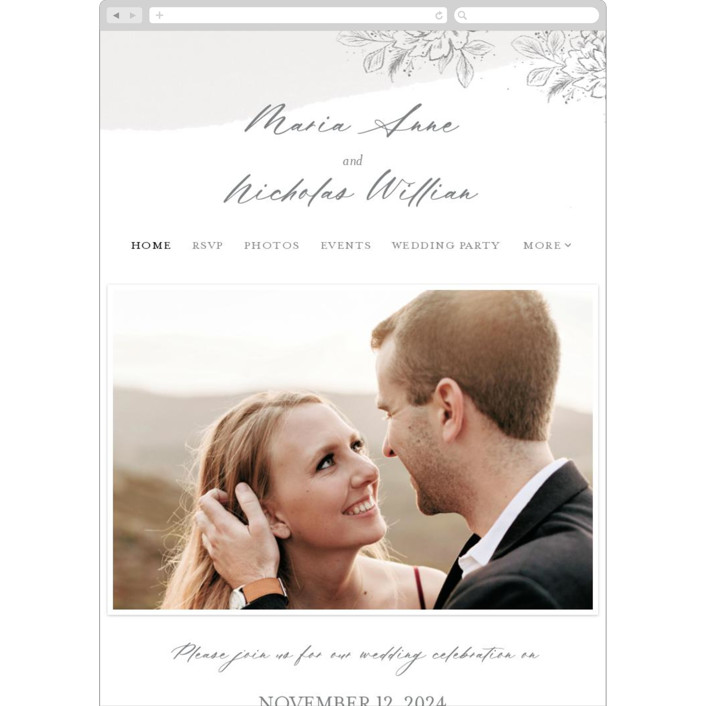 """""""Loving"""" - Wedding Websites in Cloudy by Paper Raven Co.."""
