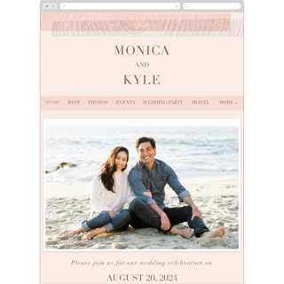 This is a pink wedding website by Robin Ott called engrained printing on digital paper in standard.