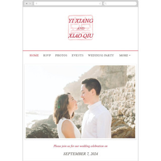 This is a red wedding website by fatfatin called Double Xi printing on digital paper in standard.